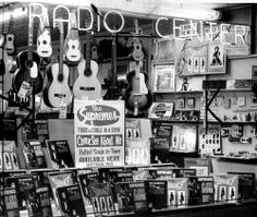 Records by the Motown hitmakers the Supremes line a record-store window in 1964. (The Detroit News archives)