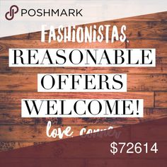 ✨OFFERS WELCOME✨ Fashionistas, please feel welcome to submit a reasonable offer on anything in my closet! I will get back to you ASAP! ❤️👠 Other