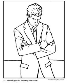 all 44 presidents coloring pages - photo#7