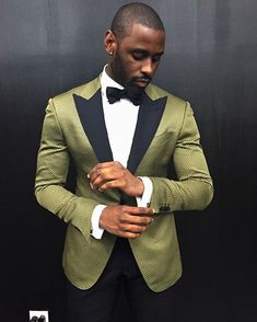Suit Designer Davidson Petit-Frère Teaches Us The Art Of Being A Gentleman Mens Fashion Suits, Mens Suits, Smart Casual Menswear, Style Masculin, Green Suit, Handsome Black Men, Mens Style Guide, Suit And Tie, Well Dressed Men