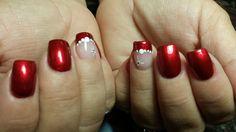 Christmas red Nails gettintipsynails.com