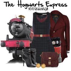 """The Hogwarts Express ~Neverlandbound"" by gallifreyangryffindor on Polyvore"