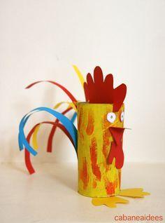 Spécial nouvel an chinois : le coq dans un tube de papier toilette -Un joli projet pour le nouvel an chinois