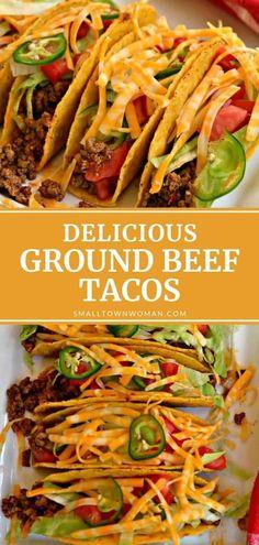 Soft Taco Recipe Ground Beef, Soft Taco Shell Recipe, Ground Beef Tacos, Ground Beef Recipes, Beef Taco Recipe, Authentic Taco Recipe, Homemade Tacos, Homemade Taco Shells, Tostada Recipes