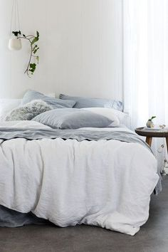 Hampton Linen Duvet Cover Set. Once you have experienced the luxury of sleeping in pure linen bedding you will never go back.