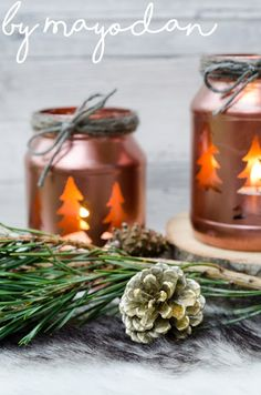 Upcycling Gurkenglas All Codes, November 2019, Pine Cones, Merry Christmas, Candle Holders, Im Not Perfect, Diy Crafts, Table Decorations, Creative