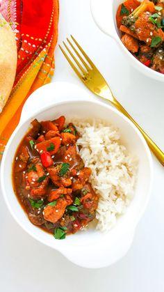 warzywny stir-fry z kurczakiem Wok, Chana Masala, Stir Fry, Risotto, Fries, Food And Drink, Lunch, Meals, Dinner