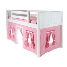 Maxtrix Kids Twin Playhouse Curtain -fits the ikea kura bed -- cute idea.
