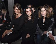 Helena and Alexa with  designer Ali Hewson