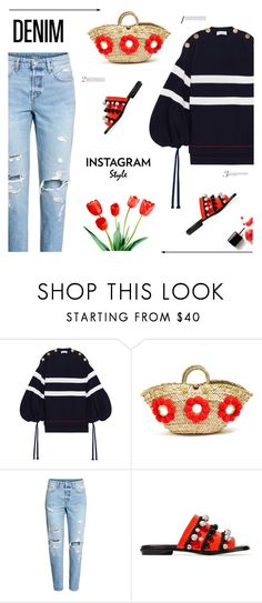 """""""Untitled #812"""" by modernmoda ❤ liked on Polyvore featuring Sonia Rykiel, Muzungu Sisters, Proenza Schouler, distresseddenim, 60secondstyle and PVShareYourStyle"""