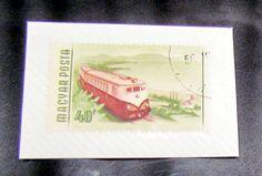 Vintage Stamp, Train, Magyar Posta, 40f, USED / STAMPED / CANCELED by VINTAGEandMOREshop on Etsy https://www.etsy.com/listing/219773508/vintage-stamp-train-magyar-posta-40f