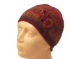 Caps – RUSTY hat with bow S / M – a unique product by betulek on DaWanda  #hat #crochet #yarn #yarnaddict #yarnlife #handmadewithlove  #yarnlove #yarnstagram #knithat #beanie #cozyknits #trendy #giftideas #gift #beauty #fashion #style #handmade #buyhandmade #betulek #bybetulek #look