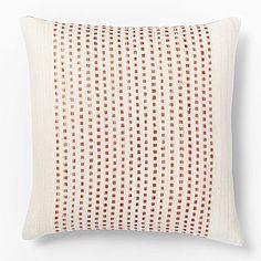Embroidered Dot Silk Pillow Cover - Bergamot #westelm
