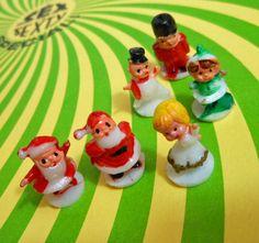 6pcs TINY CHRISTMAS MINIS 1970s Vintage by cOveTableCuriOsitiEs, $5.95