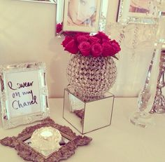 I swear on my Chanel #interior #design #fashion #home #decor #glamorous #sparkle #glass #roses