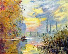 Landscape Painting - Argenteuil Evening - Sur Les Traces De Monet by David Lloyd Glover