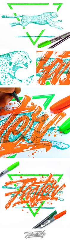 Typography Illustrations #eljuantastico