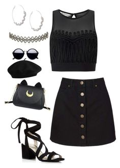 """""""Untitled #559"""" by sunnywinterday on Polyvore featuring Miss Selfridge, Assya London, Roberto Cavalli, Kenneth Cole and Usagi"""