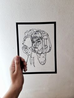 Fiction Movies, Pulp Fiction, Movie Decor, Mia Wallace, Bohemian Accessories, Group Boards, Etsy Business, Woman Drawing, Hippie Gypsy