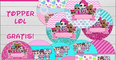 Topper imprimibles Gratis de LOL , se puede imprimir en casa o en una imprenta, puedes utilizarlo para personalizar tus golosinas, cupcake... Lol Doll Cake, Doll Party, Cupcakes, Lol Dolls, Kids Rugs, Funny, Stickers, Party, Free Printables
