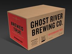 Ghost River / Master Case Mockup 2 designed by Matt Stevens. Connect with them on Dribbble; Label Design, Box Design, Carton Design, Coffee Box, Cardboard Packaging, Beer Packaging, Carton Box, Box Branding, Press Kit