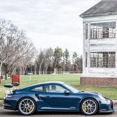 Porsche 991 GT3 RS painted in Dark Blue Photo taken by: @exotic_car_lover on Instagram