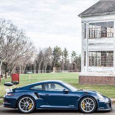 Porsche 991 GT3 RS painted in Dark Blue Photo taken by: @exotic_car_lover on Instagram