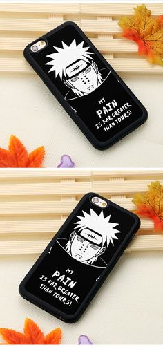 Naruto Pain Phone Case For iPhone 6 6S Plus SE 5 5S 5C 4 4S Back Shell Cover - and FREE Shipping