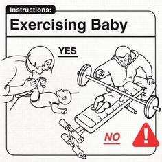 exercising baby