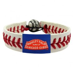 Chicago Cubs Wrigley Field Classic Baseball Bracelet  #WrigleyField #ChicagoCubs #Cubs #FlyTheW