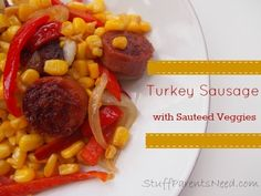This turkey sausage recipe comes together lightning fast, making it perfect for a weeknight meal. It's also loaded with great flavor! #weightlosstipsforwomen