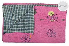 More Kantha's... I love the vibrant colors, patterns and stitching