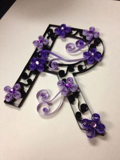 Quilled Monogramed Letters by jgaCreations on Etsy, $15.00