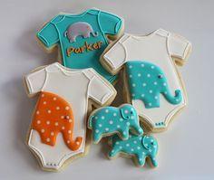 Elephant Onesie Cookies