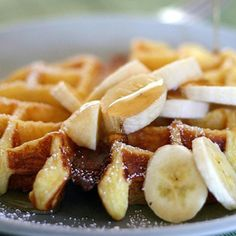BUTTERMILK WAFFLES WITH GRILLED FRUIT - To Die For