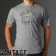 '47 Brand New Orleans Saints Varsity Scrum Premium T-Shirt - Gray