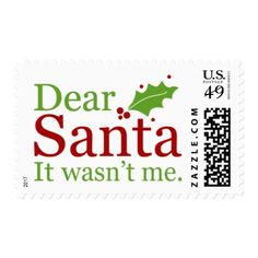 2017 Christmas Stamps { Letters To Santa }