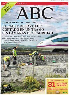 La portada de ABC del viernes 9 de octubre