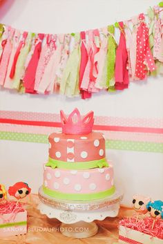 Girl Baby Shower Ideas - Cute Fabric Banner for a Girls Baby Shower