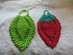 2pcs Crochet Leaf Dish cloth by rosestitchart for $6.00