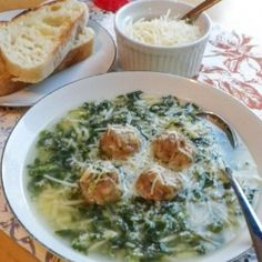 Easy Italian Wedding Soup - okay maybe not so low cal...but delish nonetheless!!!