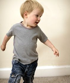 Organic - dancing jumping dreaming - Hand stitched Organic T-shirt for your Toddler