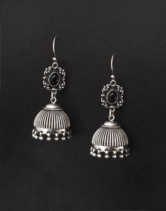 Silver Anusuya ES 1753 Onyx Jhumka Earrings-Black: Buy Fabindia Silver Anusuya ES 1753 Onyx Jhumka Earrings-Black Online. Worldwide free shipping* – Fabindia.com