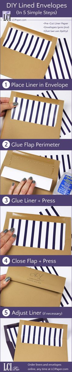 Lined envelopes made easy - how to line envelopes with pre-cut envelope liners