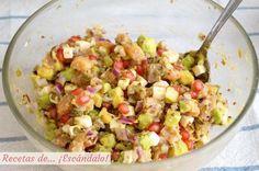 Un plato completísimo y buenísimo del blog RECETAS DE ESCÁNDALO.