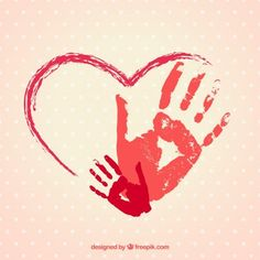 Hand painted heart with handprints day crafts for toddlers handprin . - Hand painted heart with hand prints day crafts for toddlers handprint - Fathers Day Crafts, Valentine Day Crafts, Holiday Crafts, Valentines, Valentine Crafts For Toddlers, Toddler Art, Toddler Crafts, Crafts Toddlers, Daycare Crafts