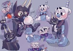 Read [♥] The Devil x Mugman from the story imágenes; cuphead shipps by cutiesoft__ (putazos. Cartoon Pics, Cartoon Styles, Cartoon Characters, Cute Drawlings, Cuphead Game, Oswald The Lucky Rabbit, Deal With The Devil, Old Cartoons, Bendy And The Ink Machine