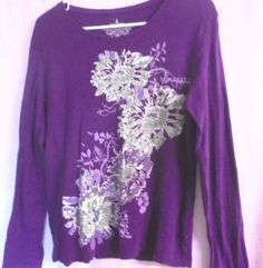TOMMY-HILFIGER-Cotton-Pull-over-Shirt-Size-XL-Purple-Long-Sleeves