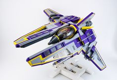 https://flic.kr/p/dssDU3 | Solar Sweeper 3V | My Vic Viper variant for Novvember 2012. Cousin to Solar Strafer.