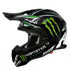 Our exclusive #monsterenergy collection - the Airoh Terminator Monster #helmet. #monster #monsterhelmets #helmets #bikes